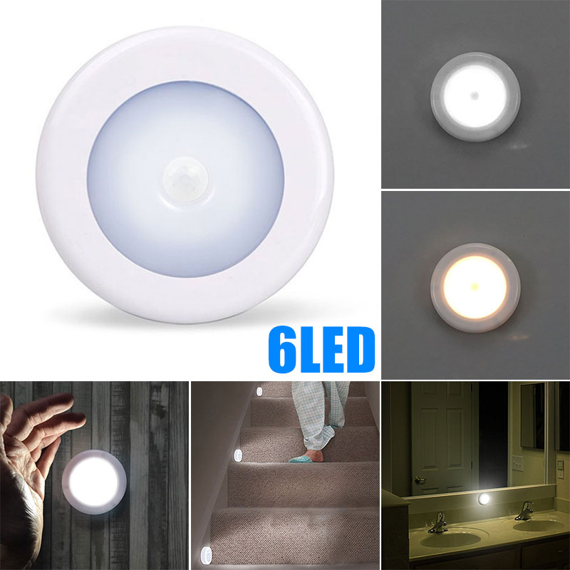 Portable 6LED Induction Light Night Light Camping Closet Emergency Wardrobe Cupboard Creative PIR Sensor Cabinet Lights