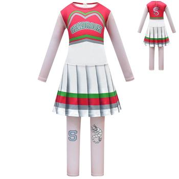 Halloween Cheerleader Costume Cosplay Regali per le ragazze Addison Outfit Fancy Dress per Zombie 1