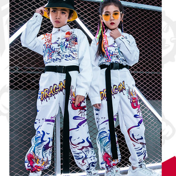 Children's Jazz Dance Costumes Boys and Girls Tide Hip-hop Handsome Autumn and Winter Suit Hip-hop Girl Korean Version