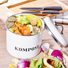 5L Compost Bin, Vintage Kitchen Pail with Lid,Indo