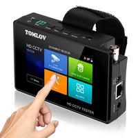 CCTV Tester Monitor TVI CVI AHD CVBS,4K H.265 MPEG IP Camera Test Rapid ONVIF 4'' Touch Screen Portable Wrist PoE camera tester