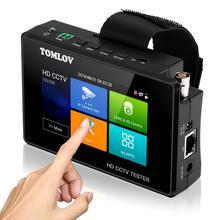 CCTV Tester monitör TVI CVI AHD CVBS,4K H.265 MPEG IP kamera testi hızlı ONVIF 4 dokunmatik ekran taşınabilir bilek PoE kamera Test cihazı