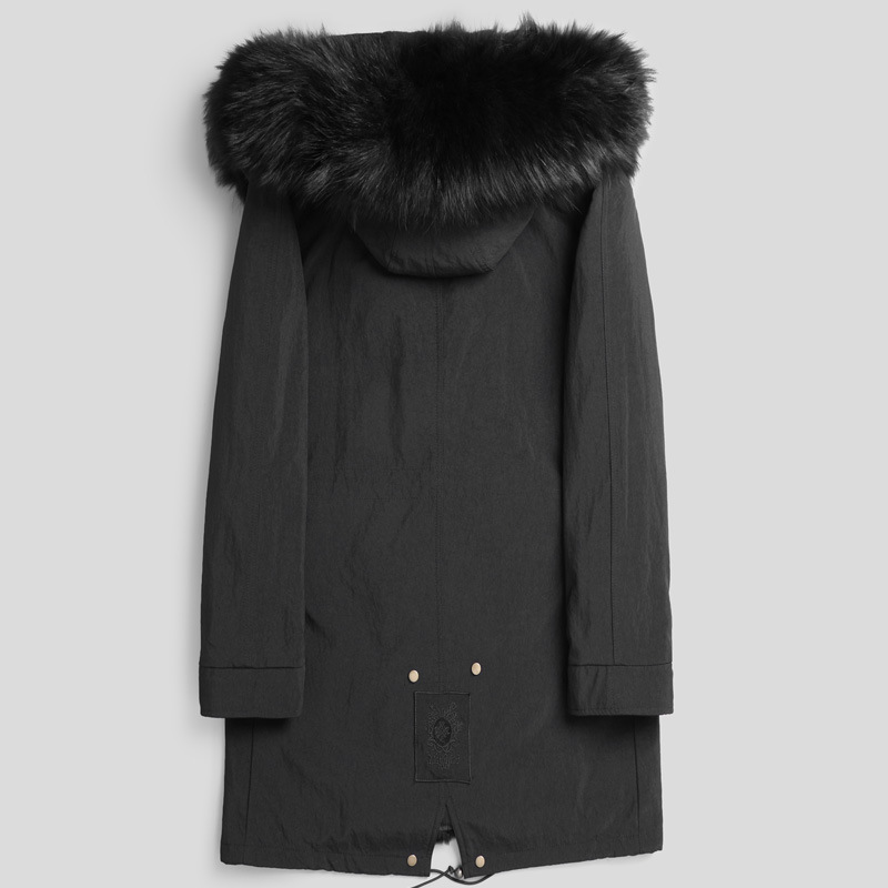 2020 Parka Real Fur Coat Men Rabbit Fur Liner Winter Jacket Warm Parkas For Men Raccoon Dog Fur Collar P1802651 KJ2440