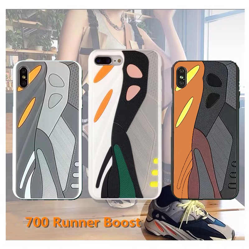 Marca deportiva de lujo zapatillas 3D funda para teléfono para iPhone 7 8 Plus Tide Silica gel funda Coque para iPhone 11 Pro X XS Max XR