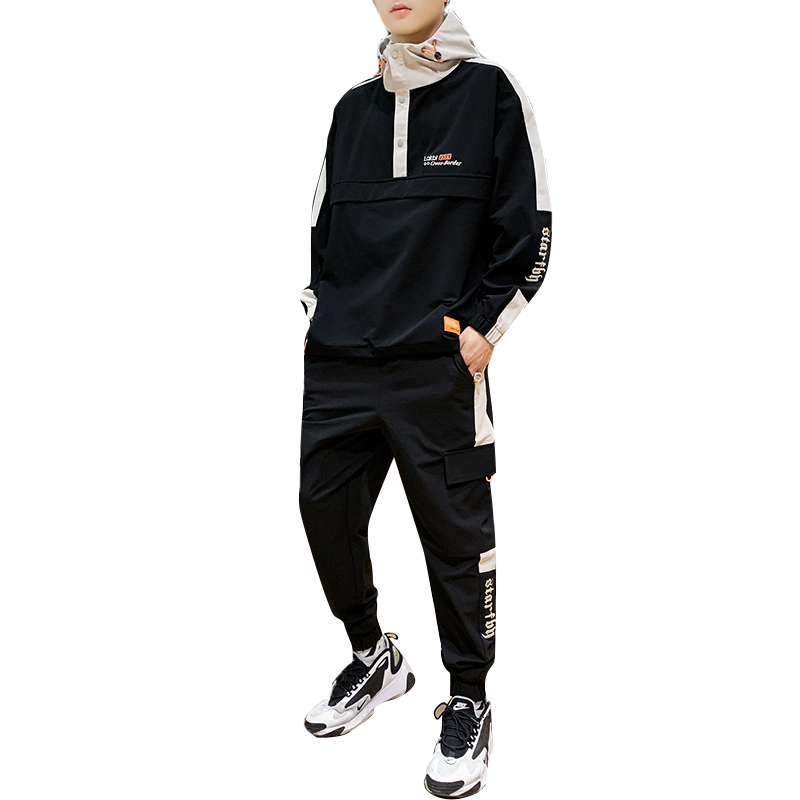 Men Autumn Sportswear Sets Polyester Fashion Hoodie And Joggers Set Men Sporting Tuta Sportiva Uomo Hoodie And Pants HH50TZ