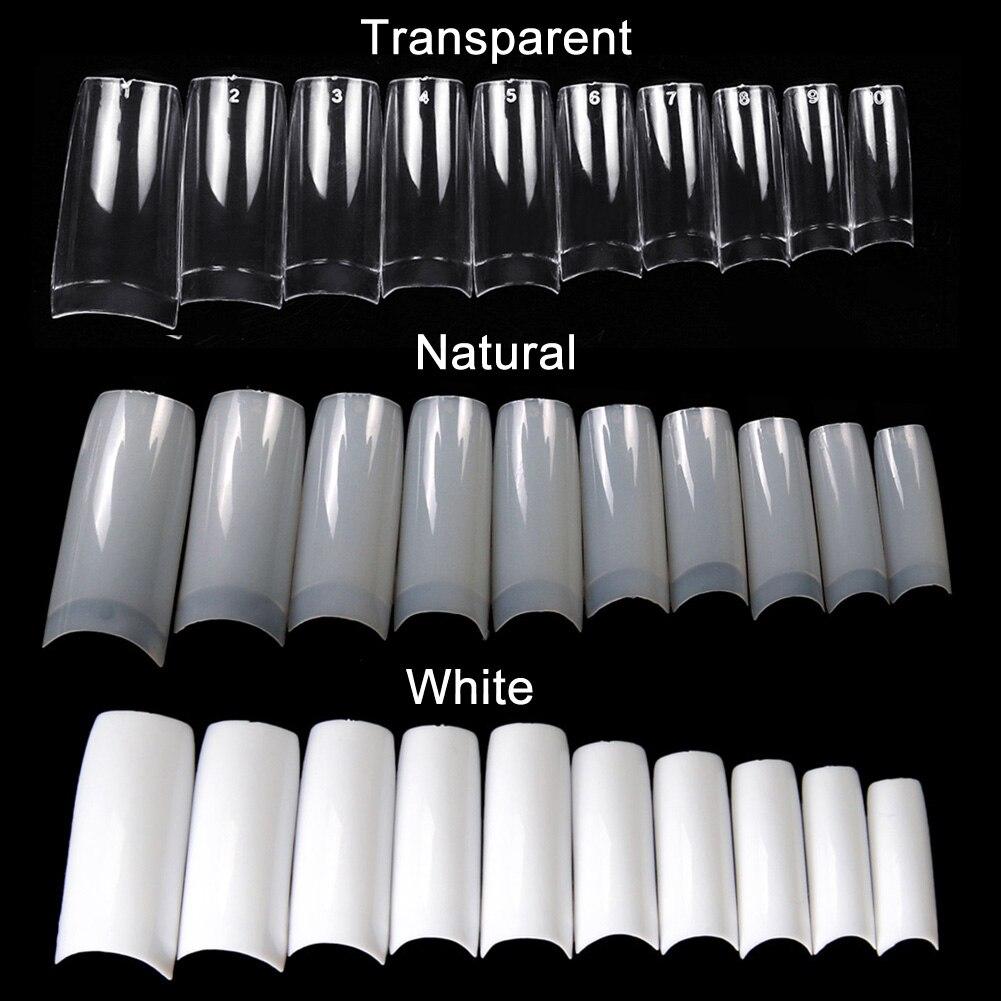 100/500pcs Nails Half French False Nail Art Tips Acrylic UV Gel Manicure Tip  MPwell