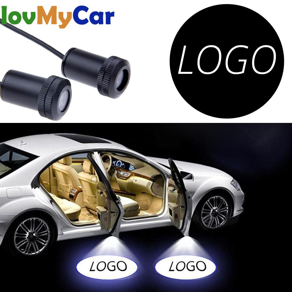 2X Car Door Welcome Logo Lamp Laser Projector Ghost Shadow Light For BMW Honda Chevrolet Benz Kia Toyota Skoda Opel Hyundai Lada