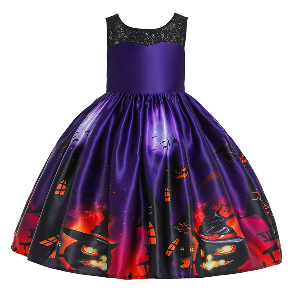 Girls Dresses For Kids 2019 Halloween Cosplay Party Dress Clothes Teens Princess Dress Hat Children Christmas Carnival Dresses (18)