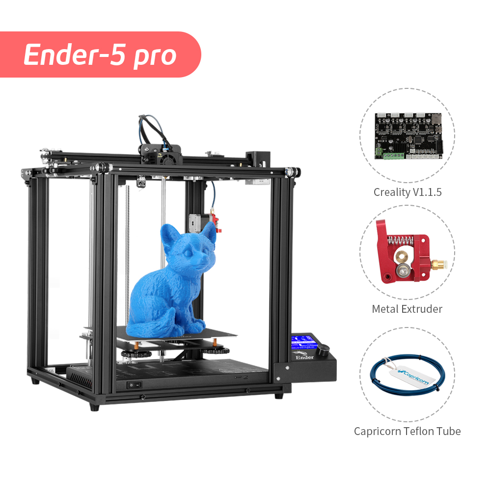 Ender-5 Pro 3D Printer Silent Board Pre-installed Cmagnetic Plate Ender 5Pro Power Off Resume Enclosed Structure Creality3D