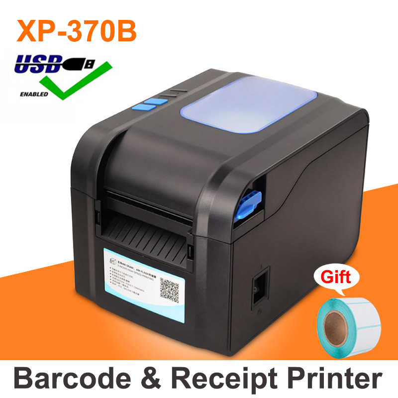 Label Barcode Printer Thermal Receipt Printer Bluetooth Or USB Port With Auto Peeling Support Adhesive Sticker Paper Xp-370B