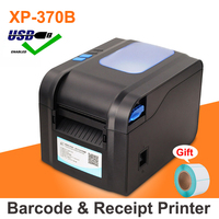 Label Barcode Printer Thermal Receipt Printer Bluetooth Or USB Port With Auto Peeling support adhesive sticker paper Xp 370B