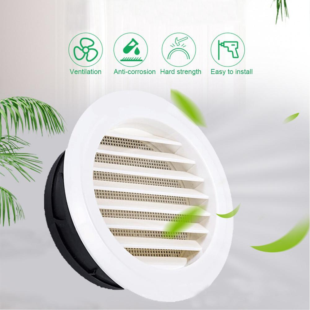 1pcs 75mm 100mm 125mm Air Extract Valve Round Diffuser Duct Cover Louvre Air Vent Ventilator Grille