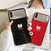 HYH iPhone Glass Case Cute Pattern Anti Knock Fitted Case for Apple iphone 6 7 8 plus x xs xr max VIP