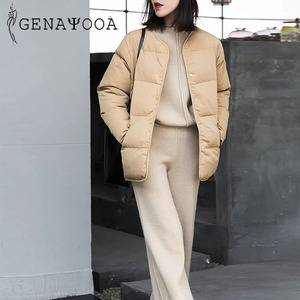 Image 4 - Genayooa Two Piece Set Pullover Sweater Tracksuit Women High Waist Knit Wide Leg Pants Women Suit 2 Piece Set Women Winter 2020