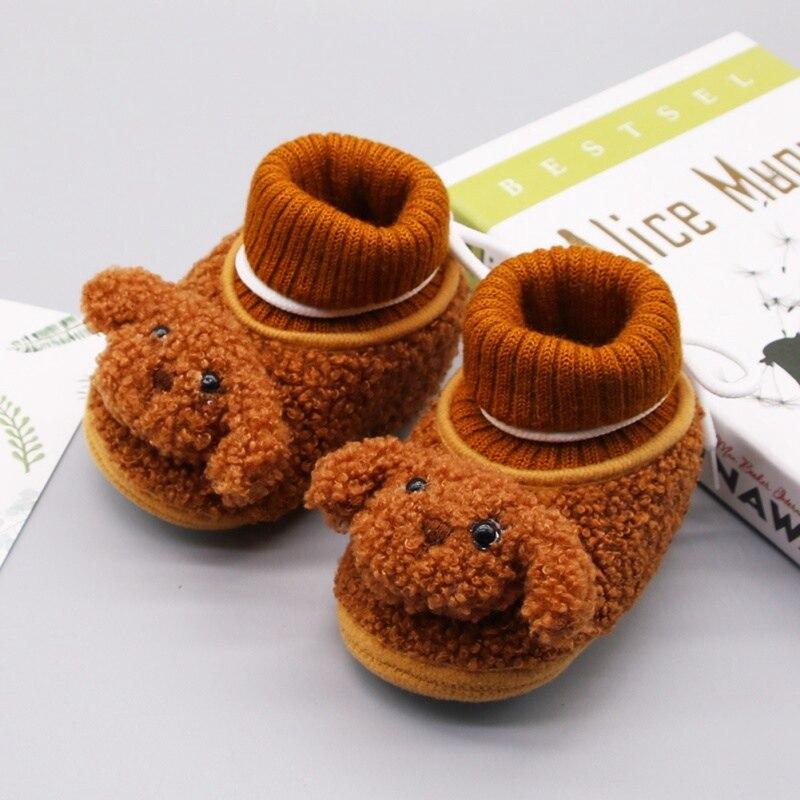 New Warm Socks Newborn Unisex Baby Boys Girls Shoes  Infant Cute Dog Animals Crib Warm Shoes