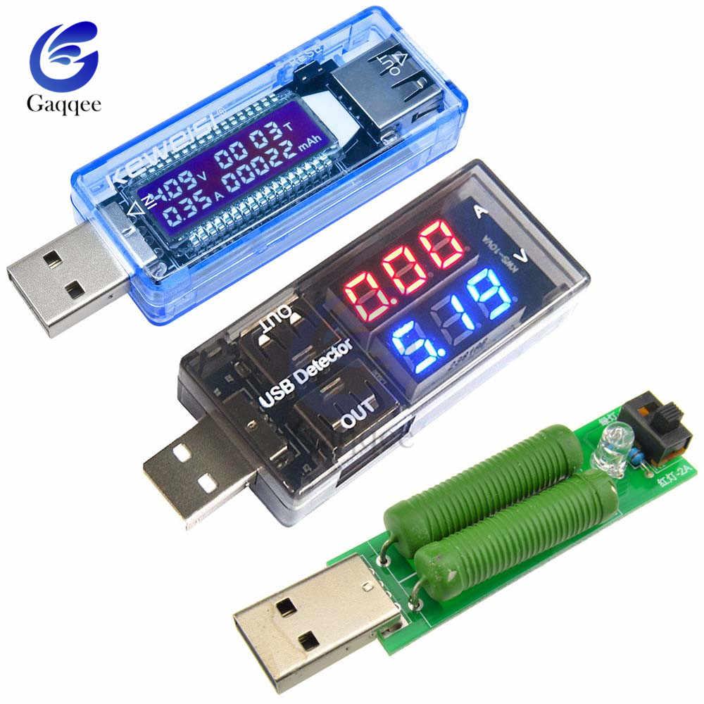 Tester USB DC woltomierz cyfrowy Amperimetro miernik napięcia prądu detektor Power Bank ładowarka wskaźnik/rezystor obciążenia/złącze