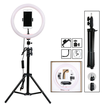"12"" Dimmable Photography Lighting  LED Selfie Ring Light 30cm Ring Lamp With Stand Tripod For Youtube Makeup Video Live Studio"