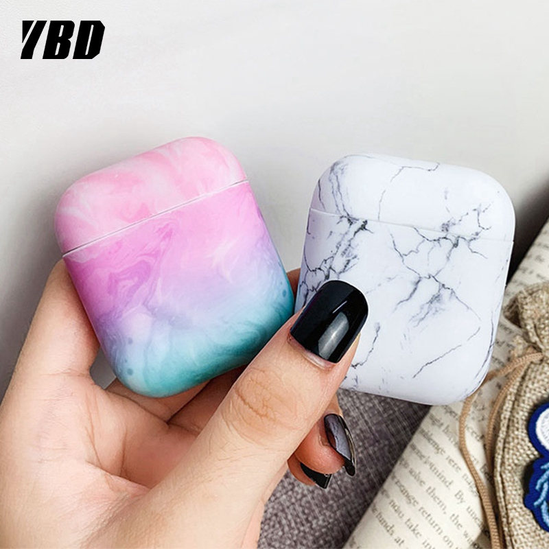 YBD Luxury Marble Pattern Case For AirPods Colors Case Cover For Apple Airpods Air Pods Case Coque Funda For Airpod Accessories