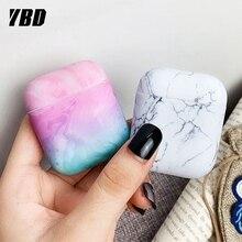 YBD luksusowy wzór z marmuru dla AirPods kolory skrzynki pokrywa dla Apple Airpods Air Pods Case Coque Funda dla Airpod