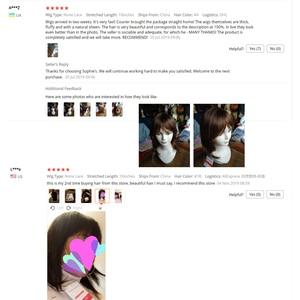 Image 2 - Sophies rectas pelucas de cabello humano brasileño para mujer, 100%, sin olor, 10 pulgadas, 1B ,# 4,99J