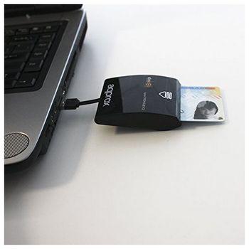 approx! ID Reader app CRDNILBv2 Extension +Smart Card Black