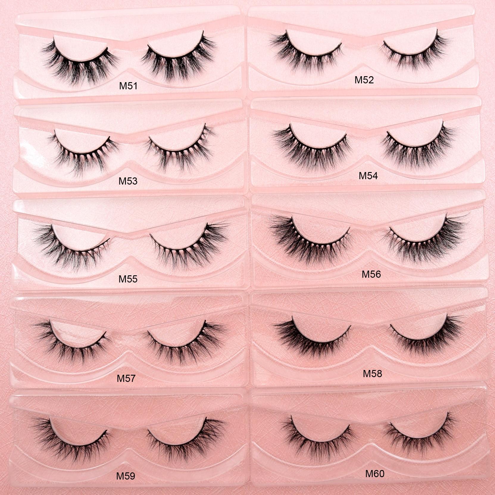 Visofree Mink Eyelashes Natural False Eyelashes Fake Lashes Long Makeup 3D Mink Lashes Extension Eyelash Faux Cils for Beauty 1