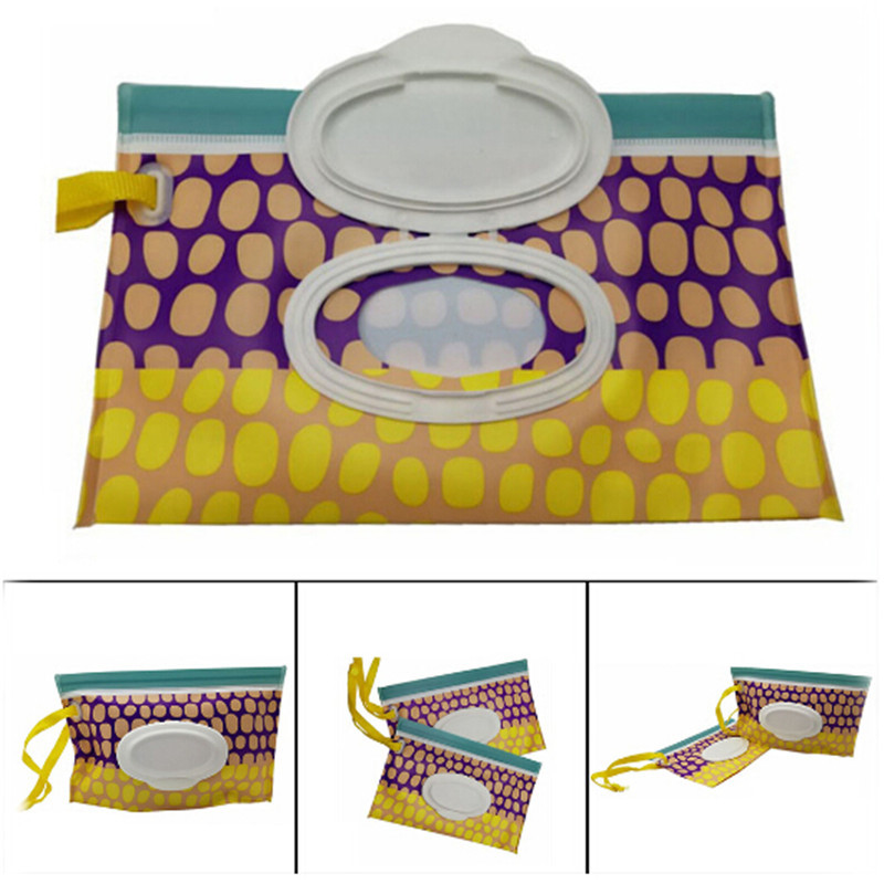 Baby Wet Wipes Bag Travel Portable Wet Wipes Cover Container For Wet Wipes Baby Skin Care Travel Wipes Bag Reusable