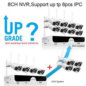 Image 2 - Jooan 8CH NVR HD 3MP CCTV Camera System Audio Record Outdoor P2P Wifi IP Security Camera Set Video Surveillance Kit