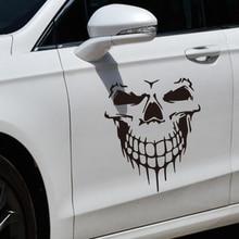 Skull car sticker, hood side door personalized reflective sticker