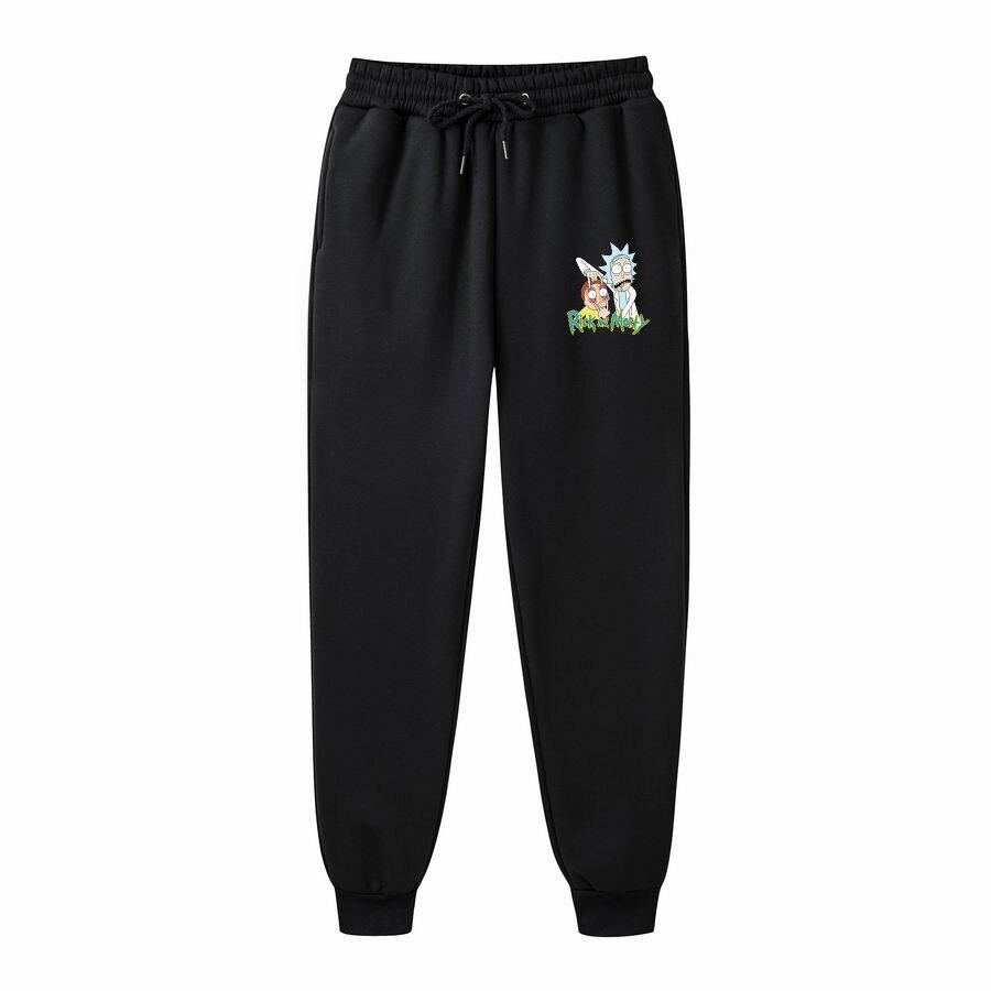 Autumn New Mens Pants Rick Morty Printed Casual Fashion Jogger Knee Length Sweatpants Man Fitness Drawstring Trousers
