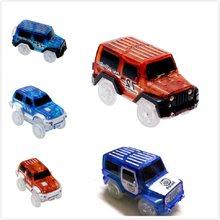4.4-5.2cm brilho pista de corrida carro brinquedo magia piscando carro trilha eletrônica carro trem brinquedo para crianças meninos meninas presente de aniversário