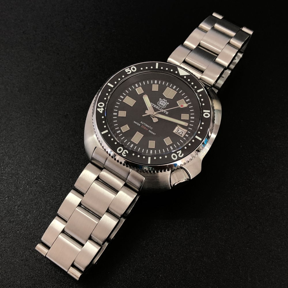 STEELDIVE NH35 Automatic Watch 200m Diver Mechanical Watch Luxury Sapphire Crystal Luminous Driving Watches Men