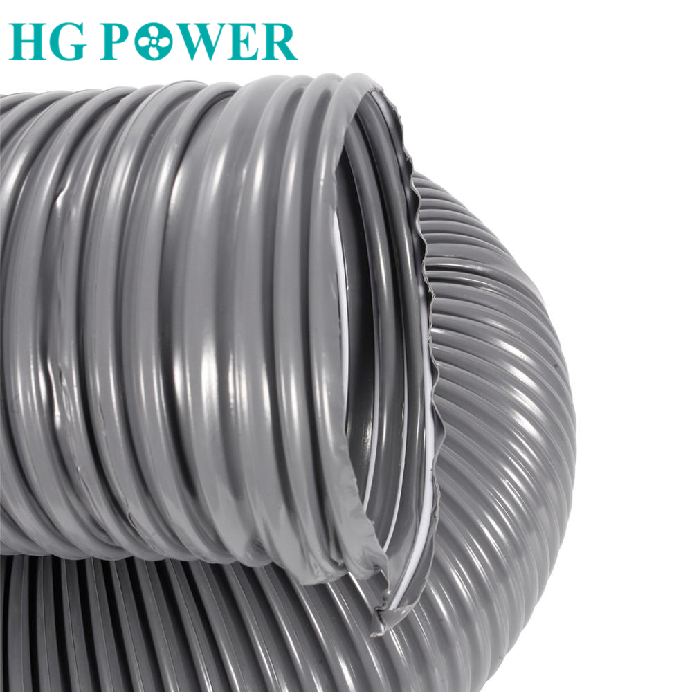 2M Flexible Exhaust Hose Pipe Steel Wire Ducting Telescopic Duct Ventilation Pipe for Home Bathroom Fresh Air Ventilator Pipe