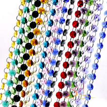 Chandelier-Lamp Crystal Camal Curtain Garland Octagonal Beads 14mm Colorful String Wedding-Party-Parts