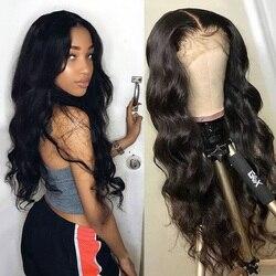 Alipanda cheveux brésiliens dentelle avant perruques de cheveux humains vague de corps dentelle frontale perruque T partie HD Transparent Remy perruques pour les femmes noires