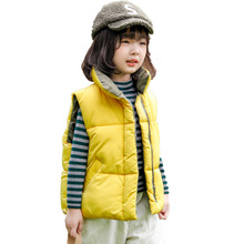 New Winter Unisex Children Hooded Vests Warm Sleeveless Coats Kids Clothes Baby Boys Girls Down Cotton Waistcoats mom and kids