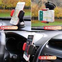Soporte Universal para teléfono móvil, para iPhone 11 y Samsung, Clip de ventilación de coche, soporte para teléfono móvil con ventosa para parabrisas