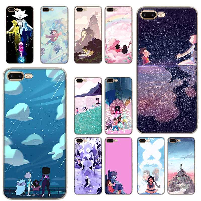 Mobile Handy Fall TPU für iPhone 11 Pro XR X XS Max iPhone 7 8 6 6S Plus 5 5s SE Abdeckung Steven Universe Cartoon
