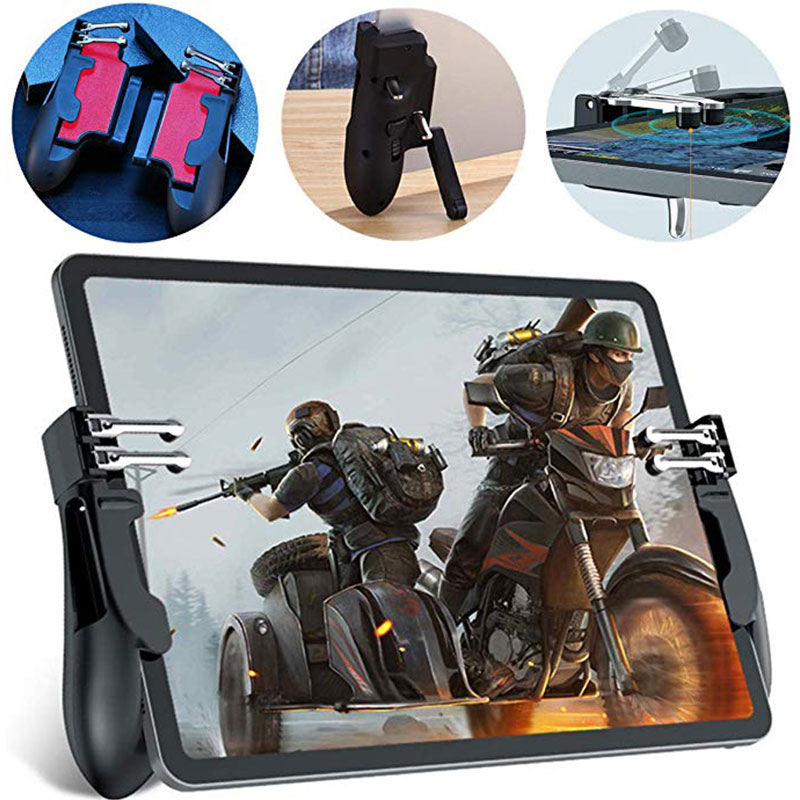 H11 Ipad PUBG Trigger Controller Six Finger Gamepad Auxiliary Grip For Ipad Tablet Mobile Game Joystick Handle