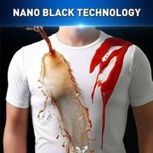 Мужская Однотонная футболка с короткими рукавами, Жидкостная, супергидрофобная, с круглым вырезом, летняя, нано, водонепроницаемое противообрастающее покрытие, рубашка