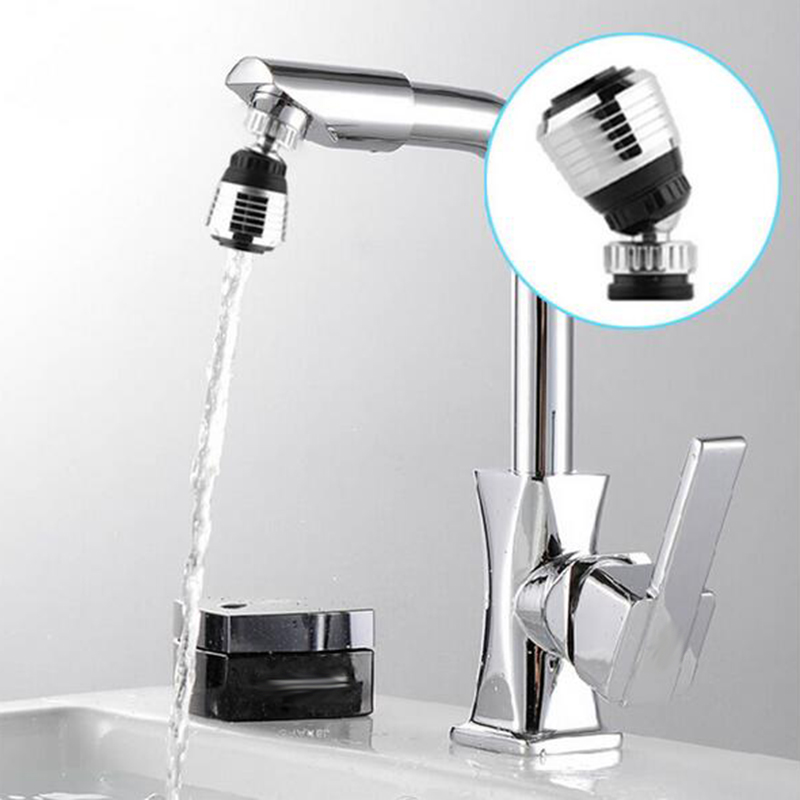 1Pcs ABS Silver Faucet Rotary Bubbler Adjustable Splash-proof Shower Filter Kitchen Bathroom Water-saving Nozzle Shower Spray