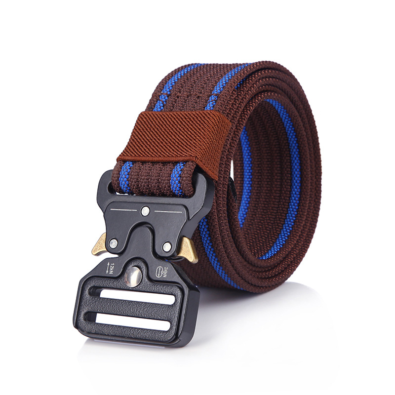 Mens Tactical Belt Nylon Belt Outdoor Multifunctional Training Belt High Quality Strap