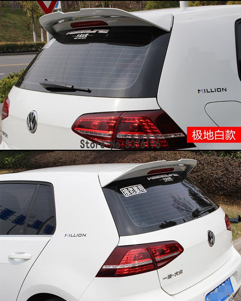 High Quality 2x Real Carbon Fiber Rear <font><b>Spoiler</b></font> Side Wing For <font><b>Volkswagen</b></font> <font><b>GOLF</b></font> <font><b>Mk7</b></font> 7 VII TSI TDI 2014-2017 Rear Side Wing <font><b>Spoiler</b></font> image
