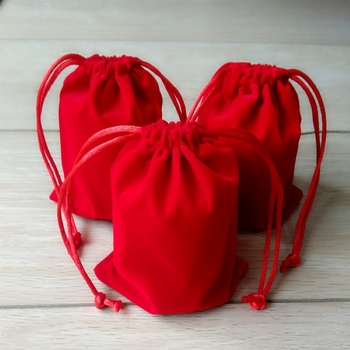 customize&wholesale small velvet jewelry gift pouch velvet drawstring pouch storagae and packaging bag