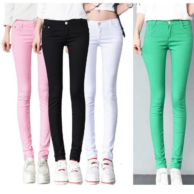 Howme Mens Spell Color Straight-Fit Mid Waist Frayed Pencil Jeans