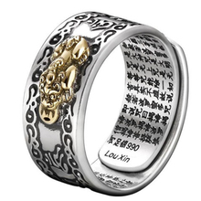 Pixiu Charms Ring Feng Shui Amulet Wealth Lucky Open Adjustable Ring Buddhist Jewelry Women Men Unisex Jewelry Finger Ring Gift