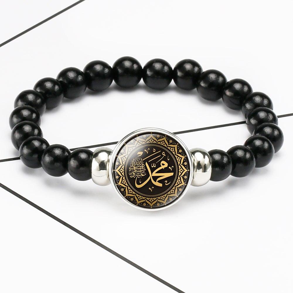 Новый Ближний Восток ислама мусульманская бусина браслеты 18 мм кнопки купол Кабошон браслет с шармами подарки для мусульманский Аллах
