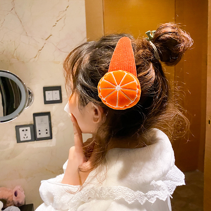 Novelty Big Flower Hairpin Cute Cartoon Fruit Edge Hair Pins Clips For Women Girls Wash Face Dish Hair Tool Accessories Headwear