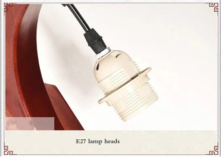 Led estilo chinês sala de estar lâmpada