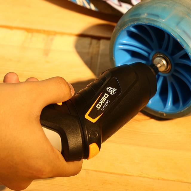 DEKO DKCS3.6O1 S1/S2/S3 Electric Cordless Screwdriver Impact Keyless Chuck Charging Battery 6